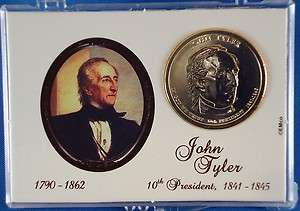 2009 John Tyler Uncirculated Mint State Presidential Dollar in Gift