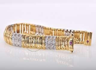 Roberto Coin 18K Gold Diamond Elephantino Bracelet