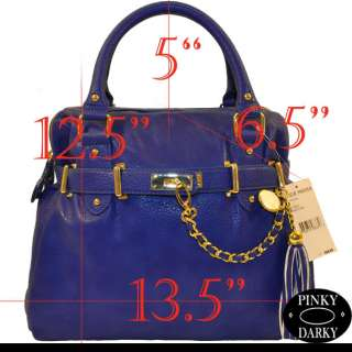 98 2012 NEW STEVE MADDEN LEATHER BLUE BNEPTUNE SATCHEL HANDBAG