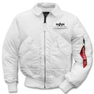 Alpha Industries CWU 45 Jacke weiss: .de: Bekleidung