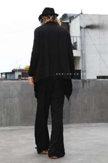 Elegant Style Mens Black Casual Boot Cut Dress Pants