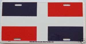 Dominican Republic Flag Embossed Car Alu License Plate