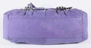 Purple Leather Stainless Hardware Satchel Shoulder Bag Handbag