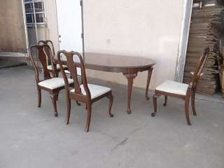 Ethan Allen Georgian court 225 table + 4 chairs dining room kitchen