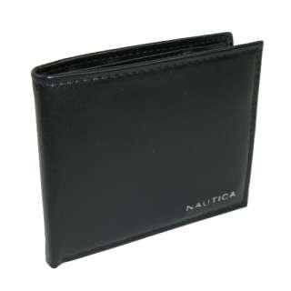 Nautica Mens Genuine Leather Passcase Wallet (Black) 26217297675