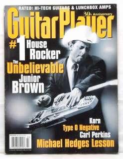 GUITAR PLAYER MAGAZINE JUNIOR BROWN MICHAEL HEDGES RARE