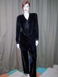 GIORGIO ARMANI BEAUTIFUL BLACK VELVET JACKET&PANTS 12
