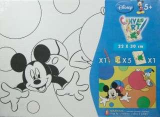 Wandbild zum selbstbemalen Micky Maus Malen Kinder