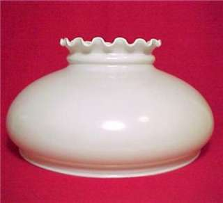 Glass 10 in Dome Hanging Kerosene Oil Lamp Shade White