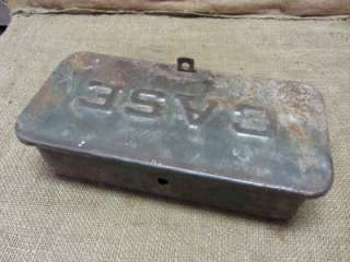 Vintage Case Tractor Toolbox Antique Old Iron Tool Box Farm Equipment