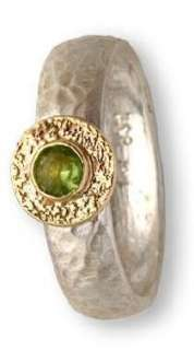 silver gold peridot ring rings JEWELRY gemstone R242