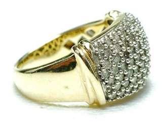 Estate 14k yellow Gold & 1/2 carat Diamond ladies band ring 1980s