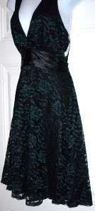 New $89 Roulette Green Black Lace Cocktail Dress