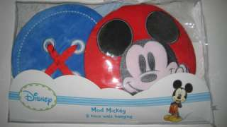 MOD MICKEY 3 Piece Wall Hanging Set Disney Mickey Mouse Baby Nursery