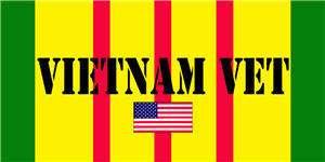 Vietnam Vet Military Combat US Flag Mouse Pad Coaster
