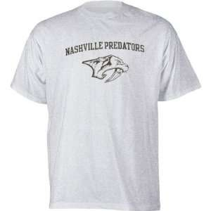 Nashville Predators Ash Logo T Shirt:  Sports & Outdoors