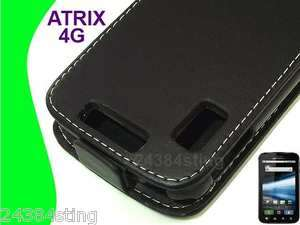 LEATHER FLIP CASE COVER for MOTOROLA ATRIX 4G MB860