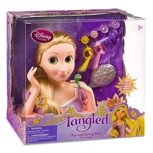 Disney Store Tangled Princess Rapunzel Styling Head Doll Toy Play Set
