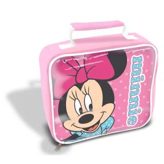MINNIE MOUSE POLKA DOT INSULATED LUNCH BAG BOX NEW