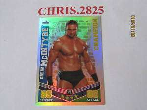 SLAM ATTAX MAYHEM DREW MCINTYRE CHAMPION CARD