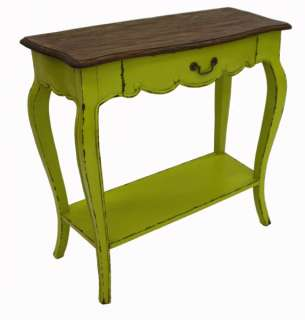 French designer Furniture Rustic Green Console Table designer painted