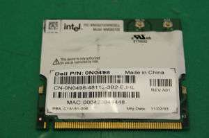 DELL LATITUDE D505 WIFI CARD 0N0498