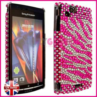 DIAMOND BLING CRYSTAL DIAMANTE CASE COVER FOR SONY ERICSSON XPERIA ARC