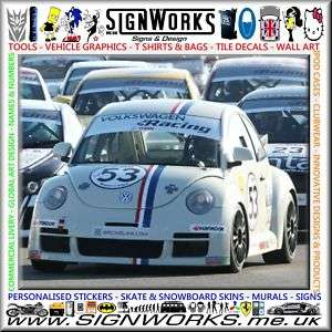VW NEW Beetle HERBIE Race Car Full Vinyl Sticker Kit