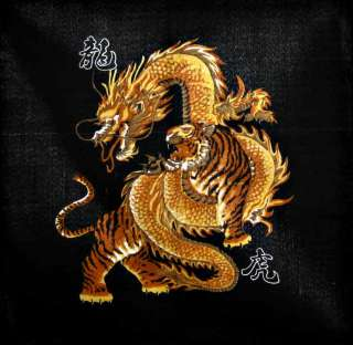 Chinese dragon fighting tiger 22 Bandana Head scarf