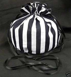 BLACK/WHITE WIDE STRIPED BAG   GOTH/LOLITA/VICTORIAN