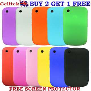 KEYPAD SILICONE CASE COVER & SCREEN PROTECTOR FOR BLACKBERRY CURVE