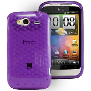 Magic Store   Purple Silicrylic Gel Case Cover For HTC Wildfire S