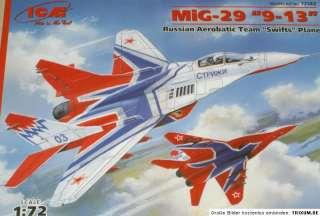 ICM 72142 MiG 29 9 13 Russ. Aerobatic Team Plastikkit 1:72