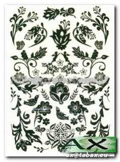 Tatuaggi rimovibili sticker body art bianco e nero 40 differenti