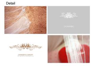 Cuty 4 Type Mosquito Net Bed Canopy Rose Bead Princess