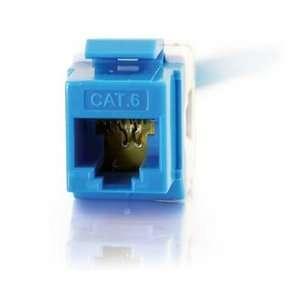 Cables To Go Cat.6 RJ 45 Keystone Jack. CAT6 RJ45 BLUE KEYSTONE