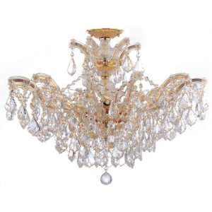 Brentwood Collection Polished Gold Finish 6 Lights Chandelier: Home