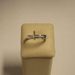 Anello donna Oro Bianco 18 kt veretta diamanti gr 2,20