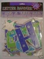 Happy 30th Birthday   LETTER BANNER (Shimmer) AA SHM LB