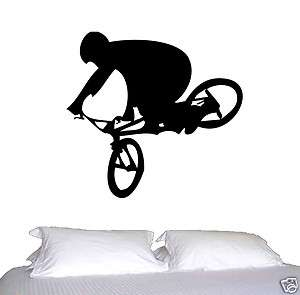 WALL ART BMX STUNT BIKE BICYCLE JUMPING MAN RED BULL FIGHTER TYPE