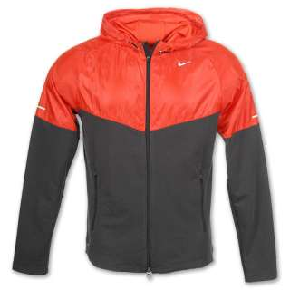 Nike Fanatic Mens Hoodie  FinishLine  Anthracite/Max Orange