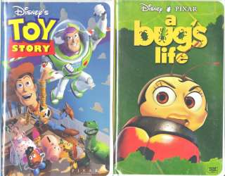Toy Story (VHS, 1996) & A Bugs Life   2 VHS