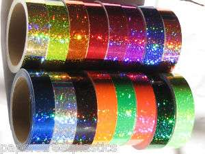 Any 6 color Sparkle Glittering Vinyl Tapes, 1 x 25 ft