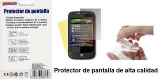 Funda silicona para HTC WILDFIRE G8 negra + protector