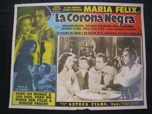 MARIA FELIX LA CORONA NEGRA 1951 LOBBY CARD PHOTO