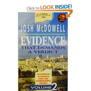 Evidence That Demands a Verdict (9781898938637): Josh McDowell: Books