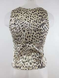 ROBERTO CAVALLI Animal Print Silk Sleeveless Blouse S