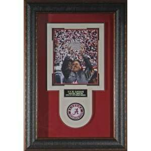 Nick Saban Alabama Crimson Tide Signed 8x10 Framed Display   Framed