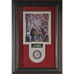 Nick Saban Alabama Crimson Tide Signed 8x10 Framed Display   Framed