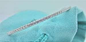 Tiffany & Co Diamond Metro Bangle Bracelet 18k White Gold RETAIL $